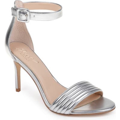Jewel Badgley Mischka Kristina Ankle Strap Sandal, Metallic