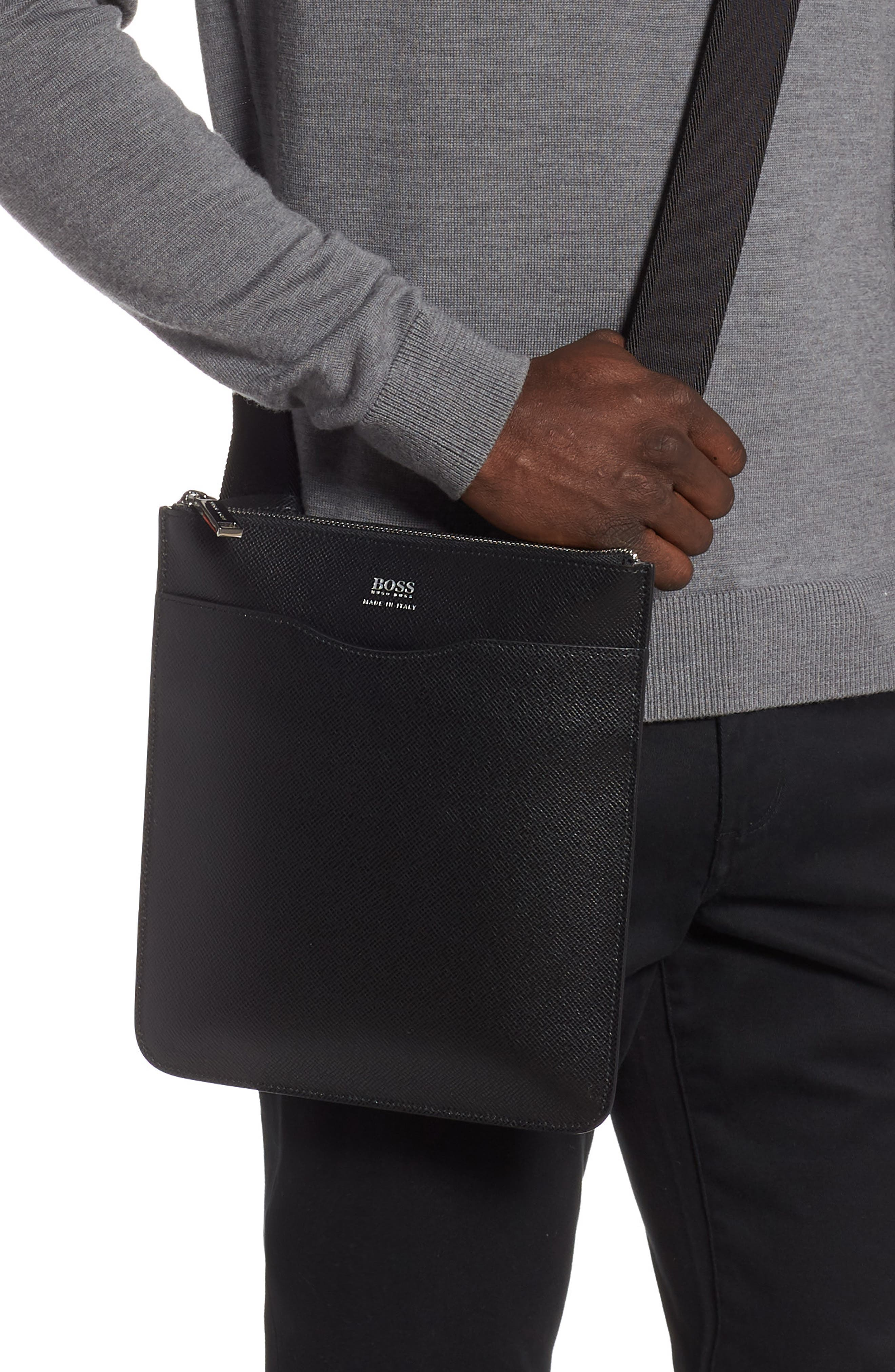 ,                             Signature Crossbody Bag,                             Alternate thumbnail 2, color,                             BLACK