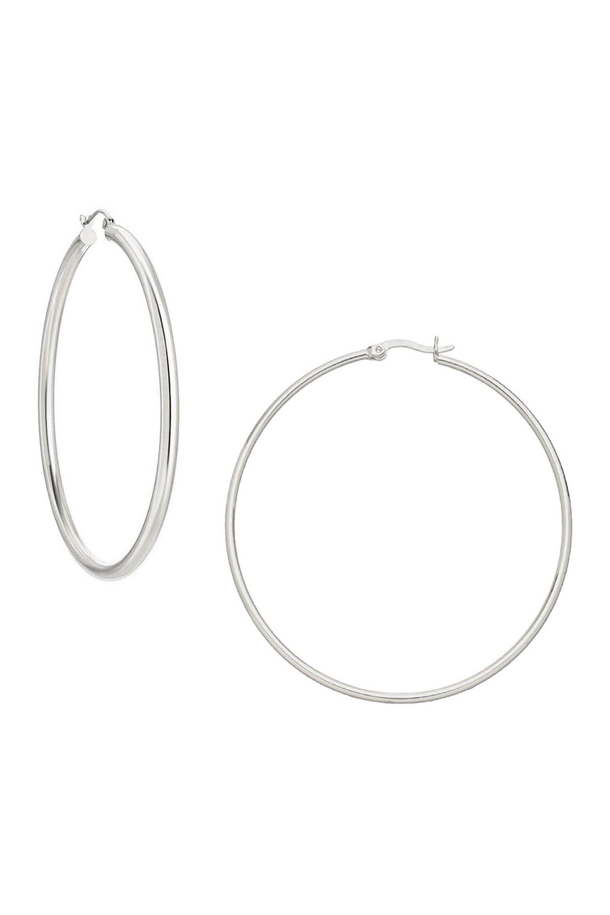 Image of Savvy Cie Sterling Silver 58mm Hoop Earrings