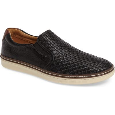 Johnston & Murphy Mcguffey Woven Slip-On Sneaker, Black