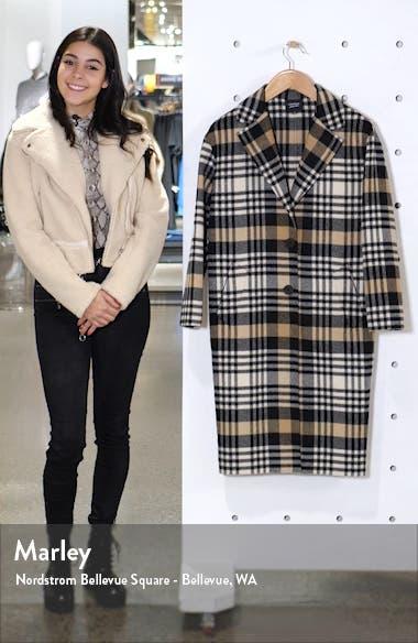 Plaid Wool Blend Coat, sales video thumbnail