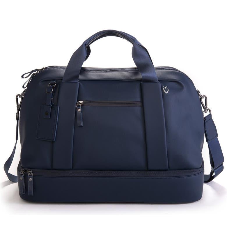 VESSEL Signature Boston Duffle Bag, Main, color, PEBBLED NAVY