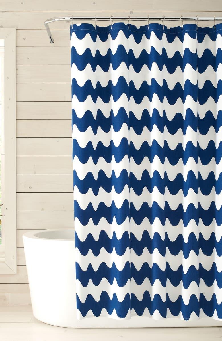 MARIMEKKO Pikku Lokki Shower Curtain, Main, color, BLUE