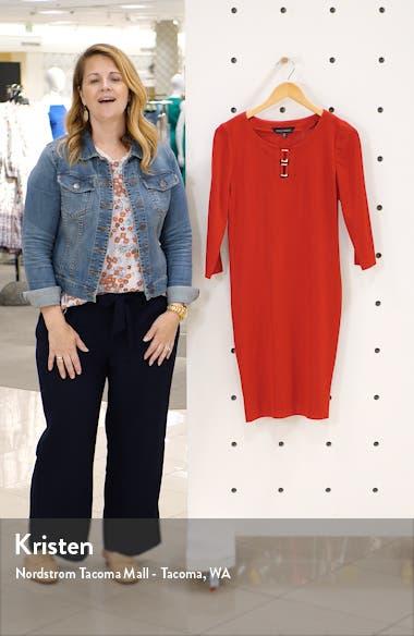 Hardware Detail Sweater Dress, sales video thumbnail