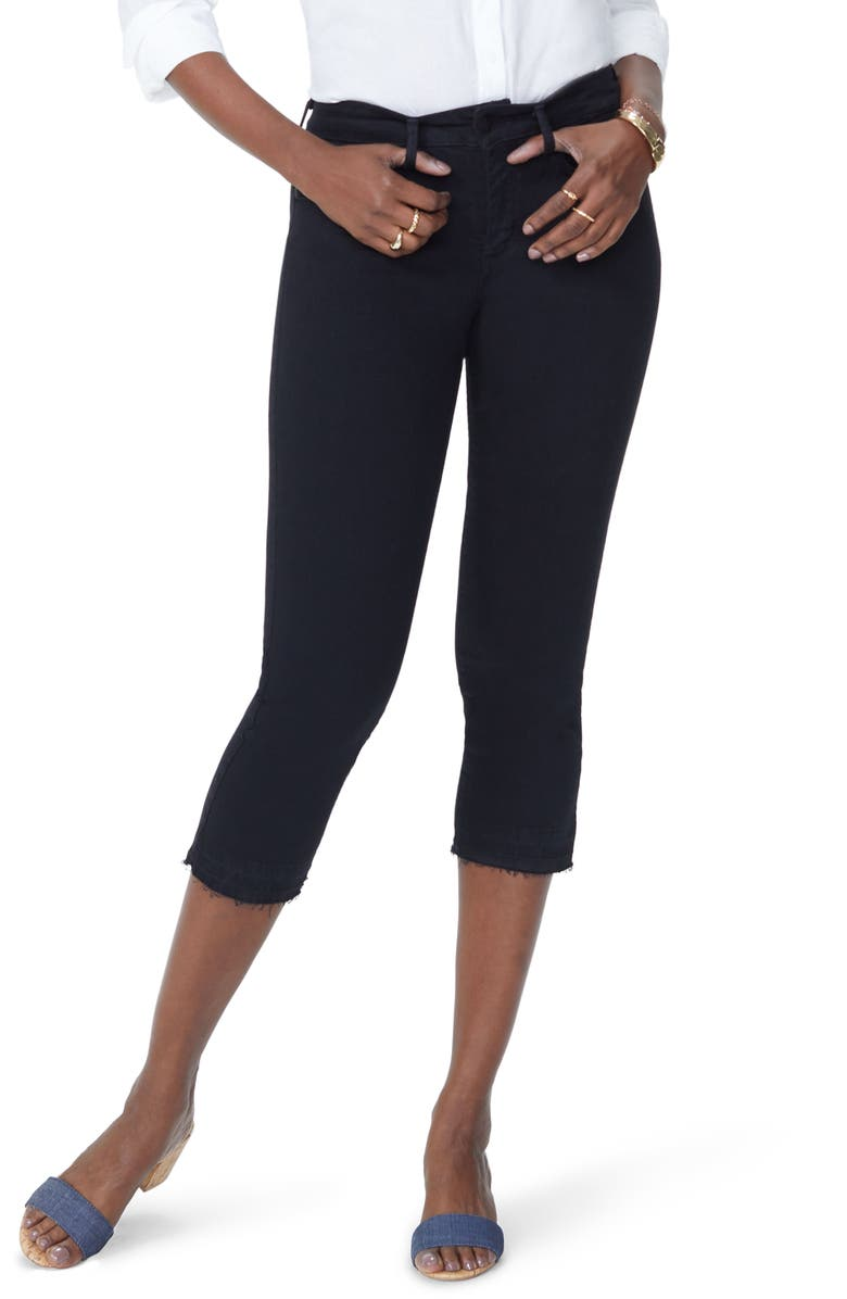 NYDJ Release Hem Capri Skinny Jeans, Main, color, 001