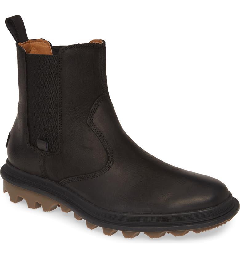 SOREL Ace Waterproof Chelsea Boot, Main, color, BLACK