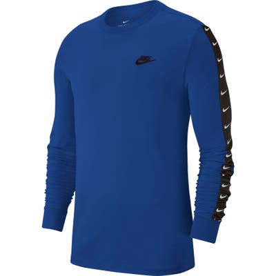 Nike Nsw Swoosh Logo Long Sleeve T-Shirt Blue