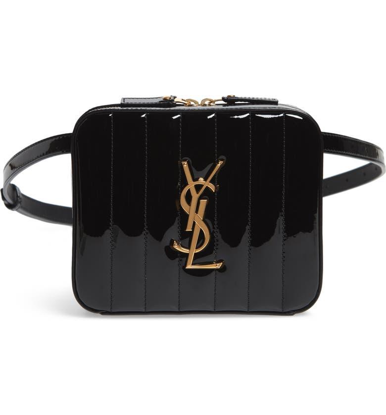 d438c876b21 Saint Laurent Vicky Patent Leather Belt Bag | Nordstrom