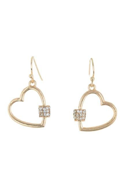 Image of AREA STARS Mini Heart Crystal Bling Earrings