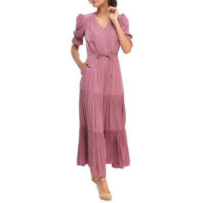 Gal Meets Glam Collection Tiered Maxi Dress, Pink