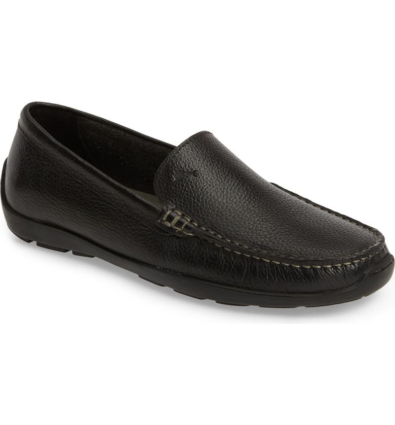 TOMMY BAHAMA Orion Venetian Loafer, Main, color, BLACK LEATHER