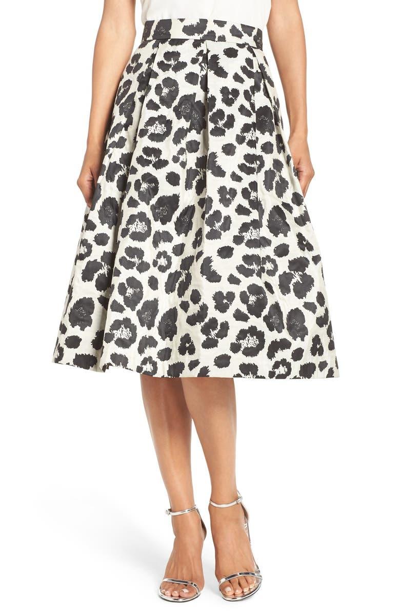 ELIZA J Metallic Jacquard Midi Skirt, Main, color, 009