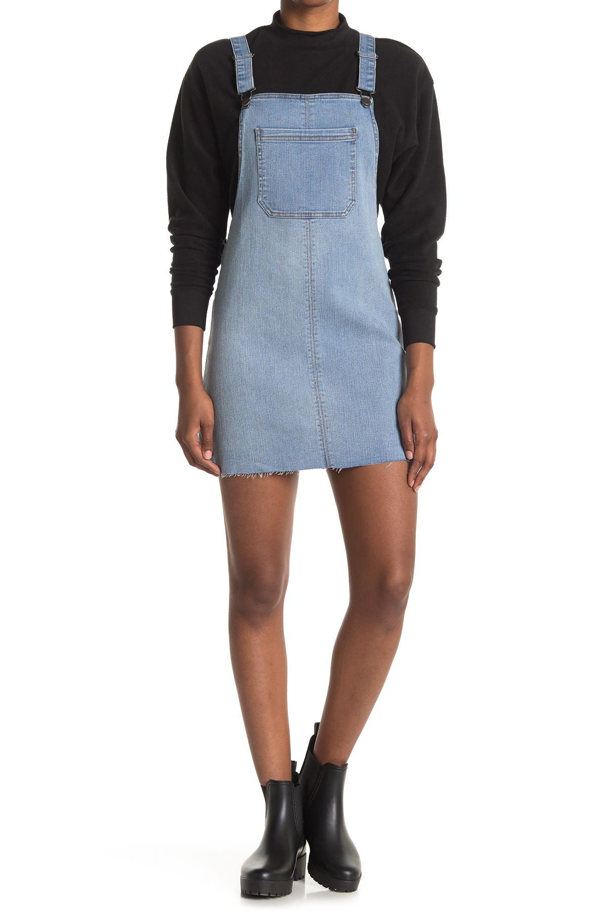 Image of Love, Fire Indigo Denim Overall Dress