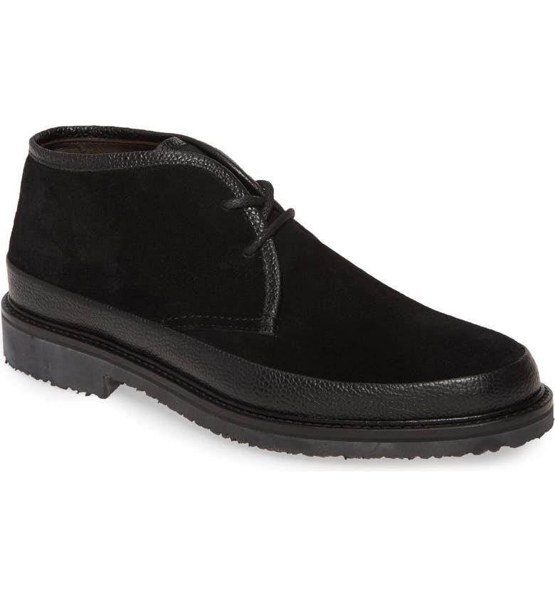 ERMENEGILDO ZEGNA 'Trivero' Chukka Boot, Main, color, BLACK/ BLACK