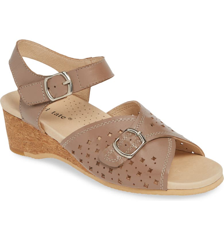 DAVID TATE Briana Sandal, Main, color, TAUPE LEATHER