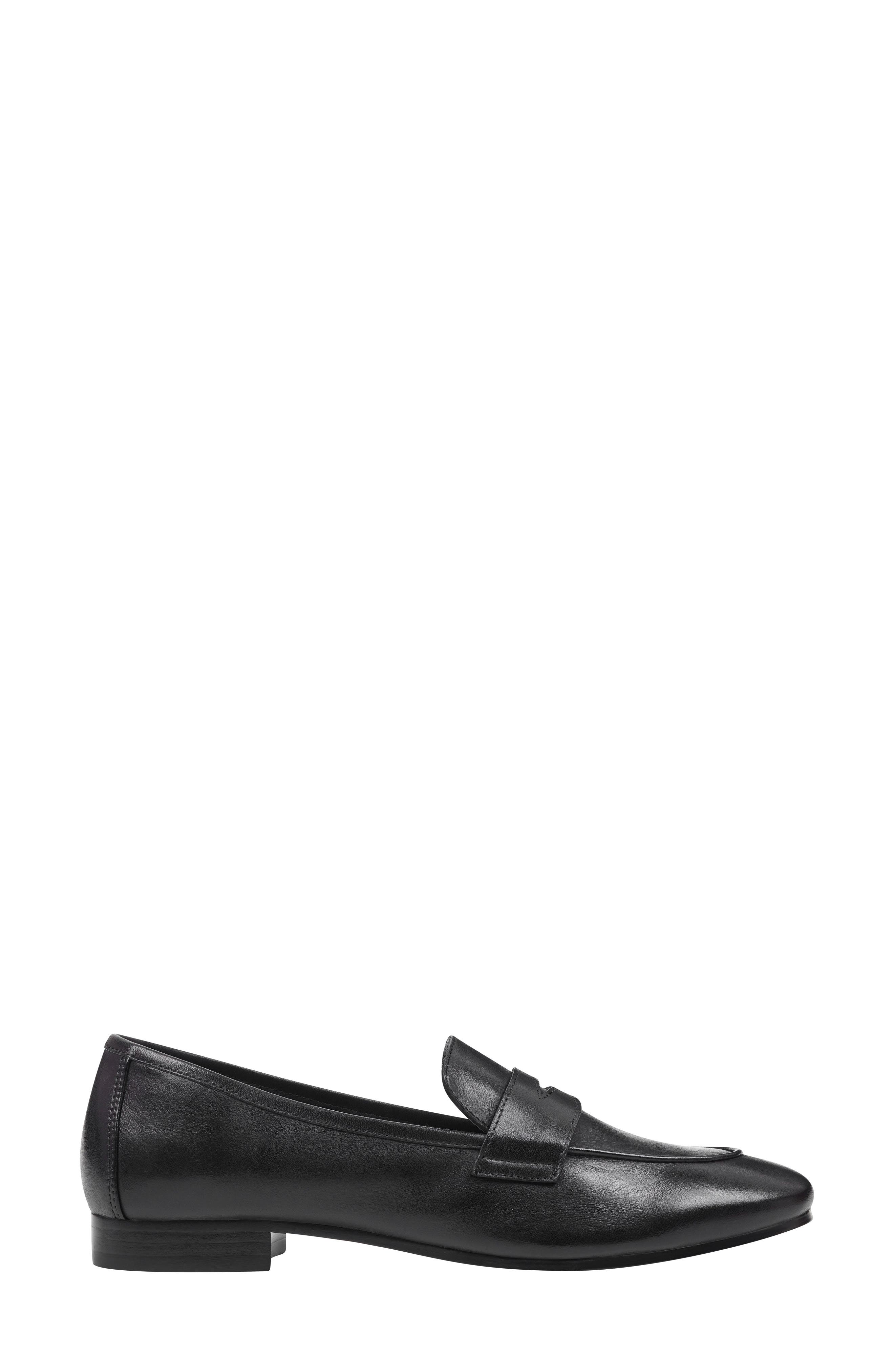 ,                             Chang Penny Loafer,                             Alternate thumbnail 3, color,                             BLACK LEATHER