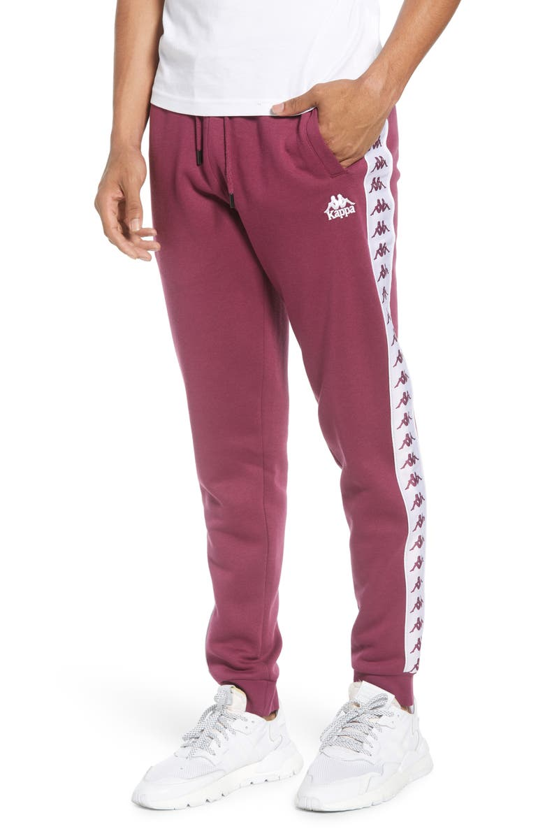 KAPPA Active 222 Banda Alanz Slim Sweatpants, Main, color, VIOLET-WHITE