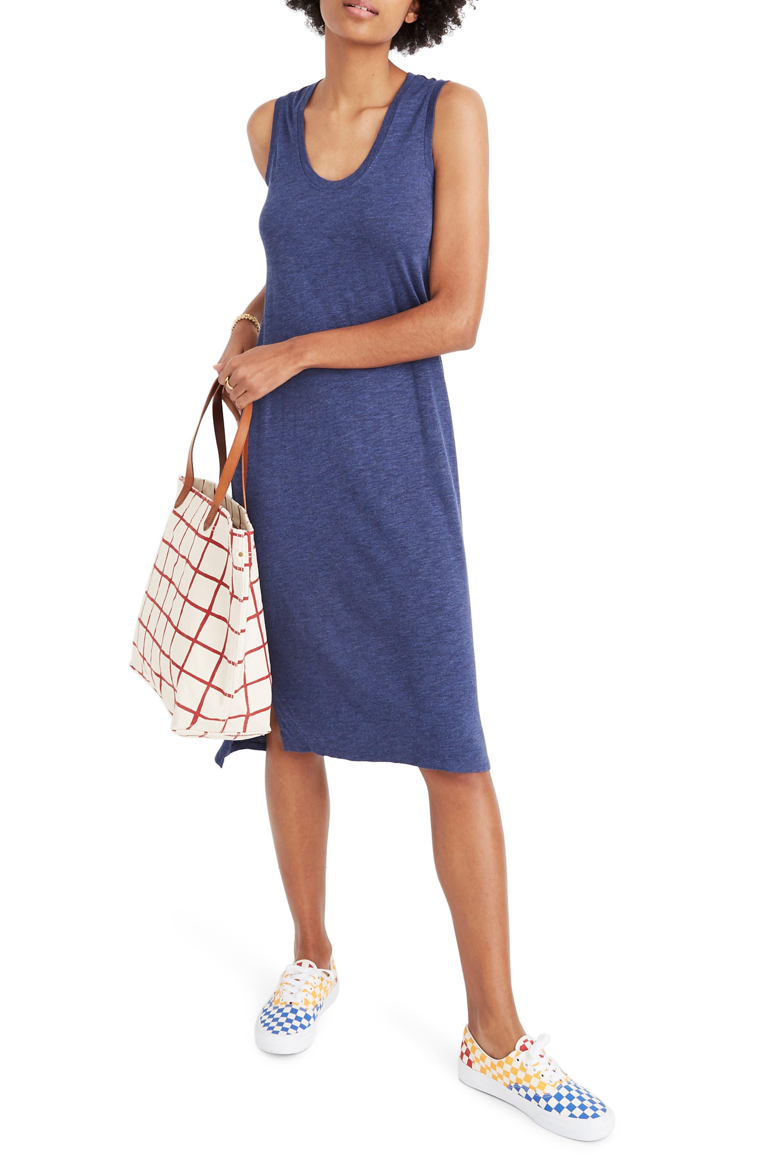Madewell Jersey Tank Dress, Blue