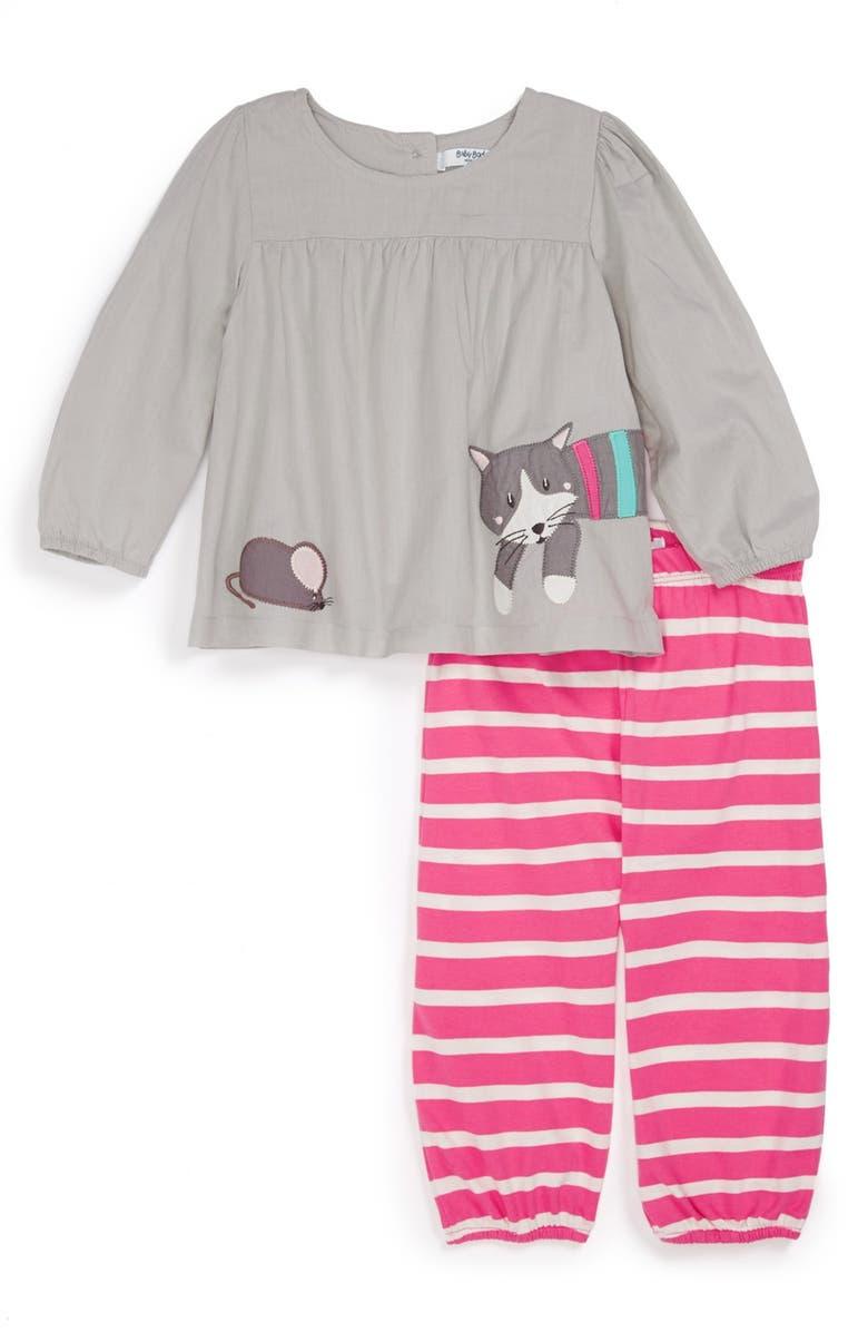 MINI BODEN Appliqué Tunic & Pants, Main, color, 034
