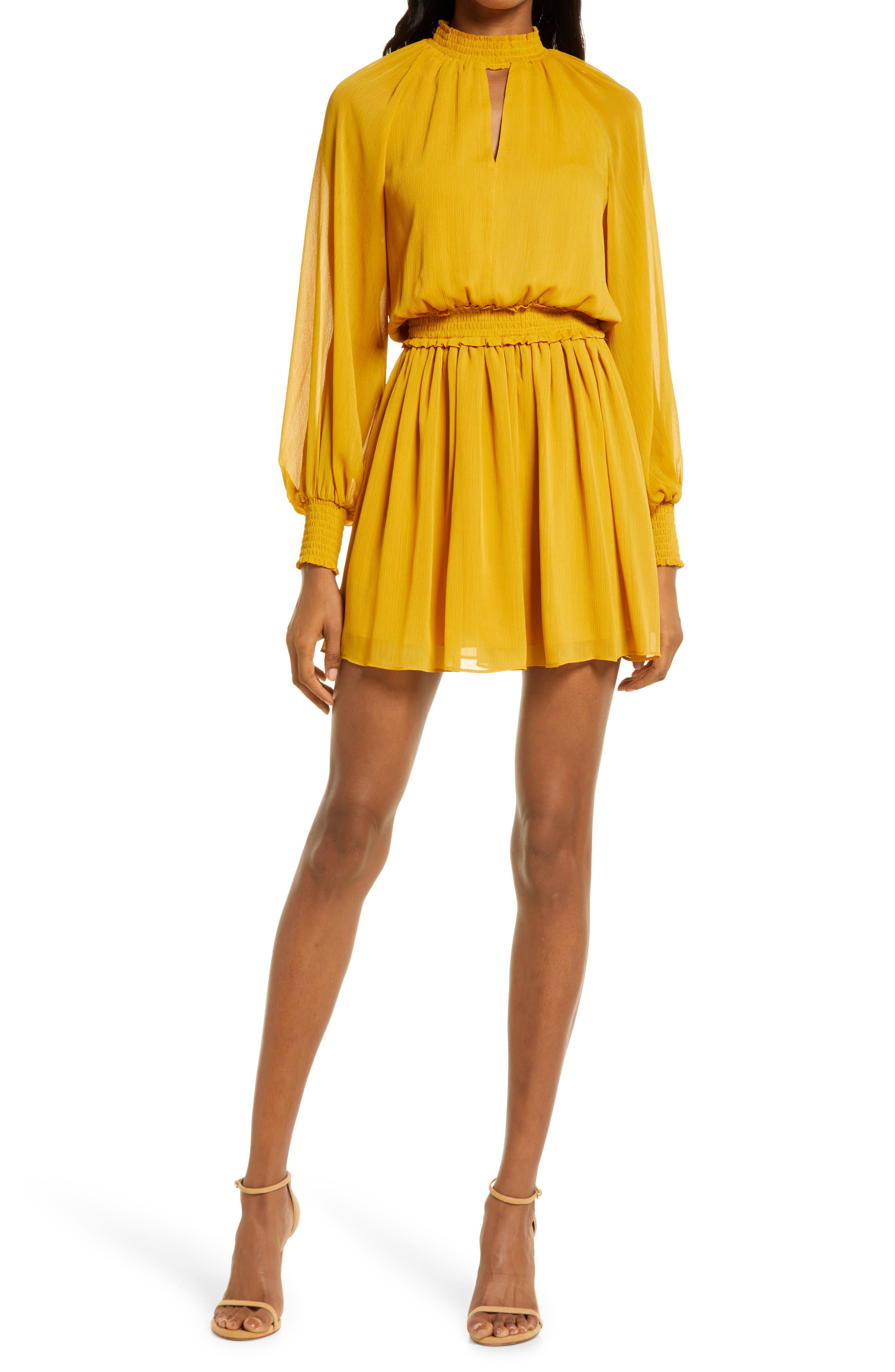 Lula High Neck Long Sleeve Minidress