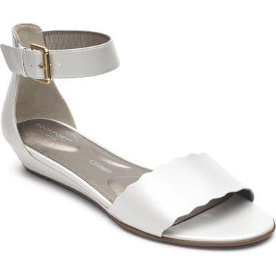 Rockport Zandra Total Motion Ankle Strap Sandal, White