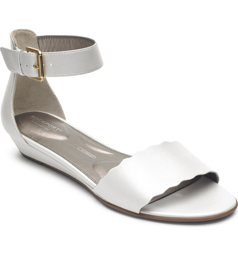 ROCKPORT Zandra Total Motion<sup>®</sup> Ankle Strap Sandal, Main, color, WHITE LEATHER