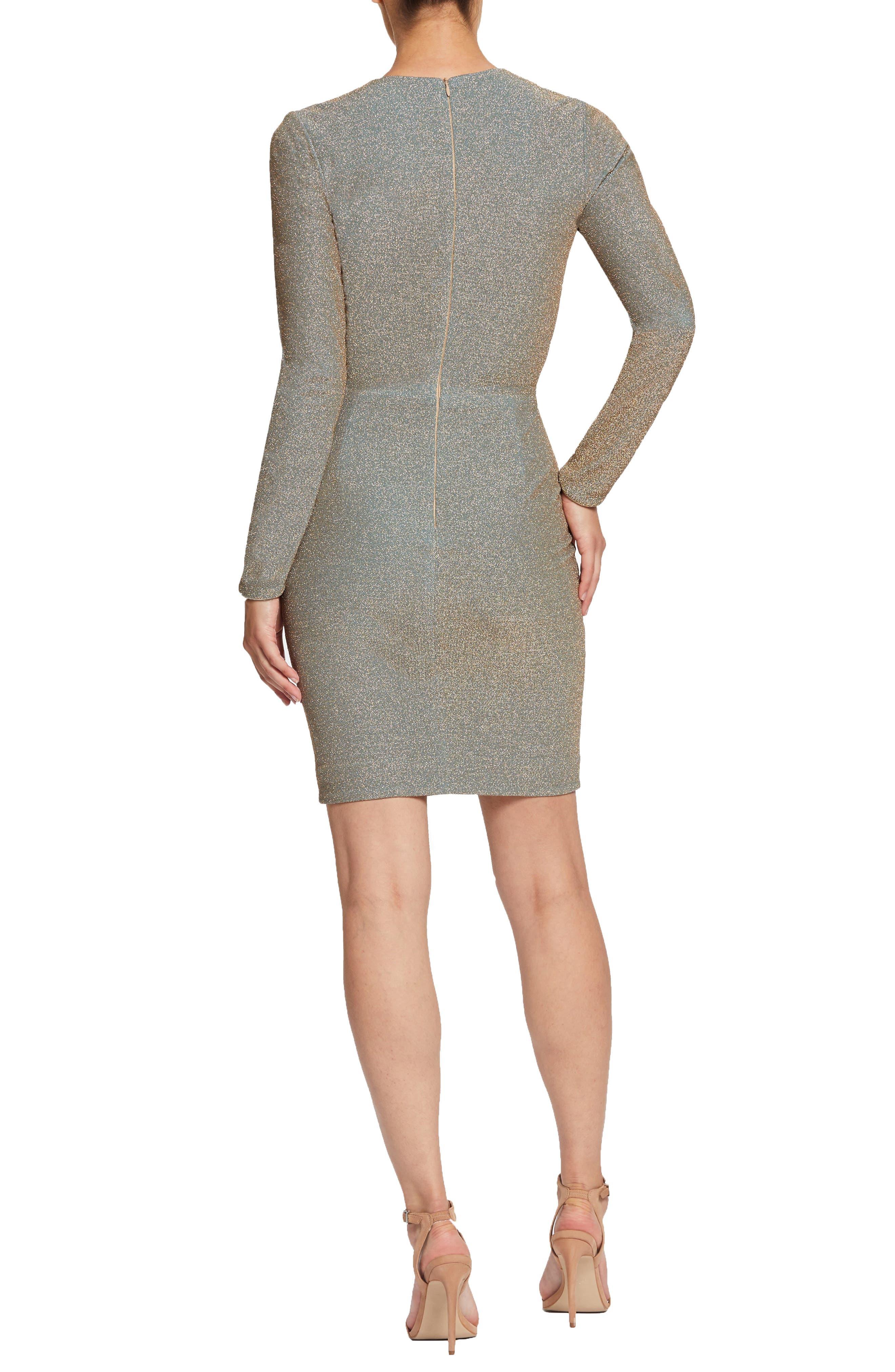,                             Riley Plunge Neck Metallic Sheath Dress,                             Alternate thumbnail 10, color,                             710