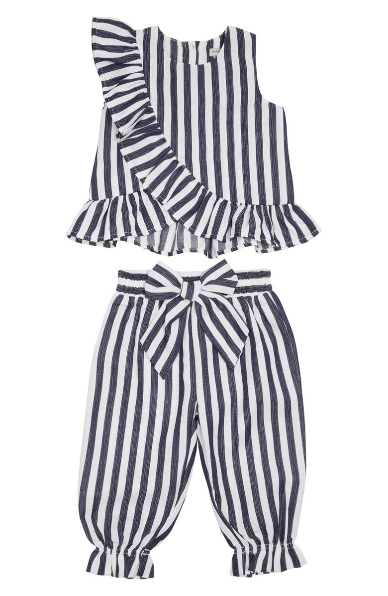 HABITUAL Ruffle Top & Pants Set, Main, color, INDIGO