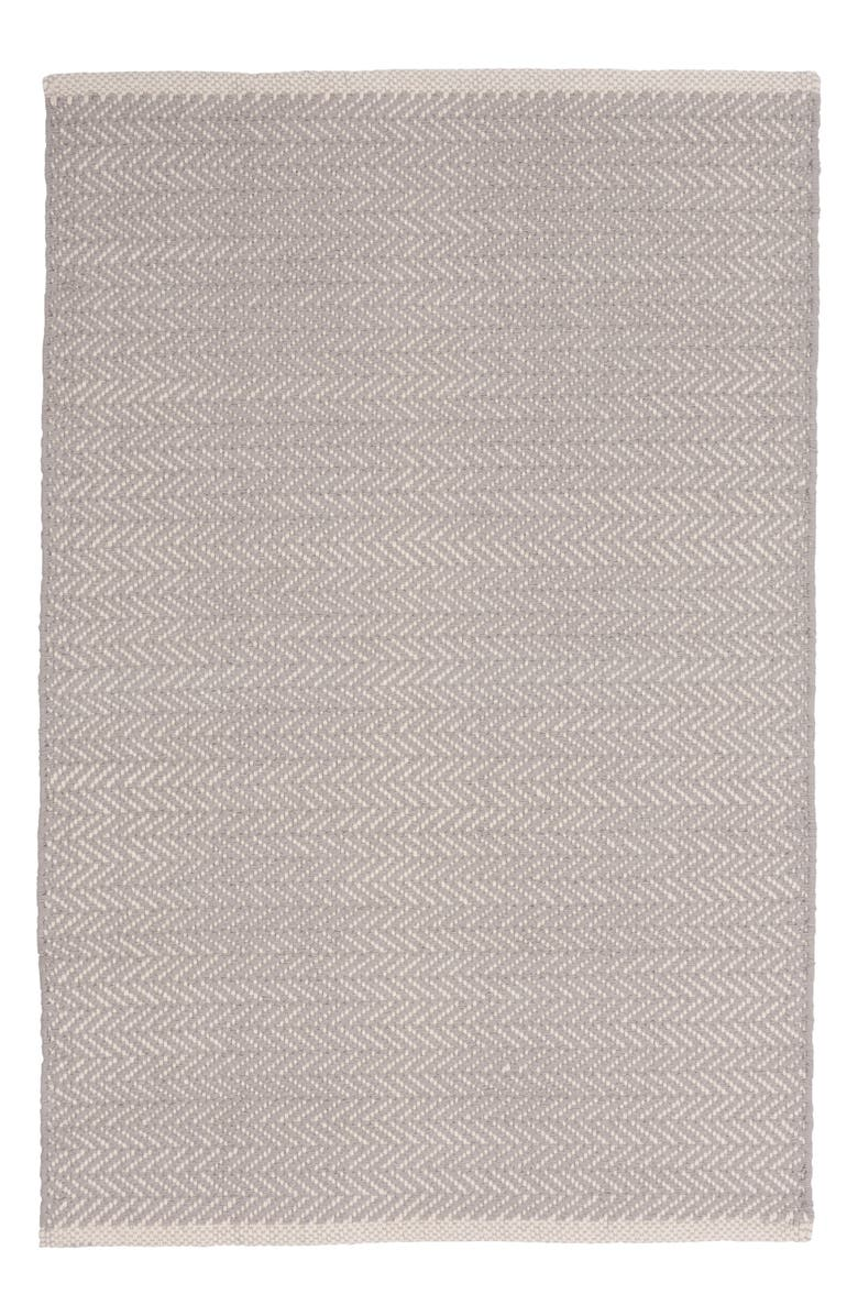 DASH & ALBERT Herringbone Rug, Main, color, DOVE GREY