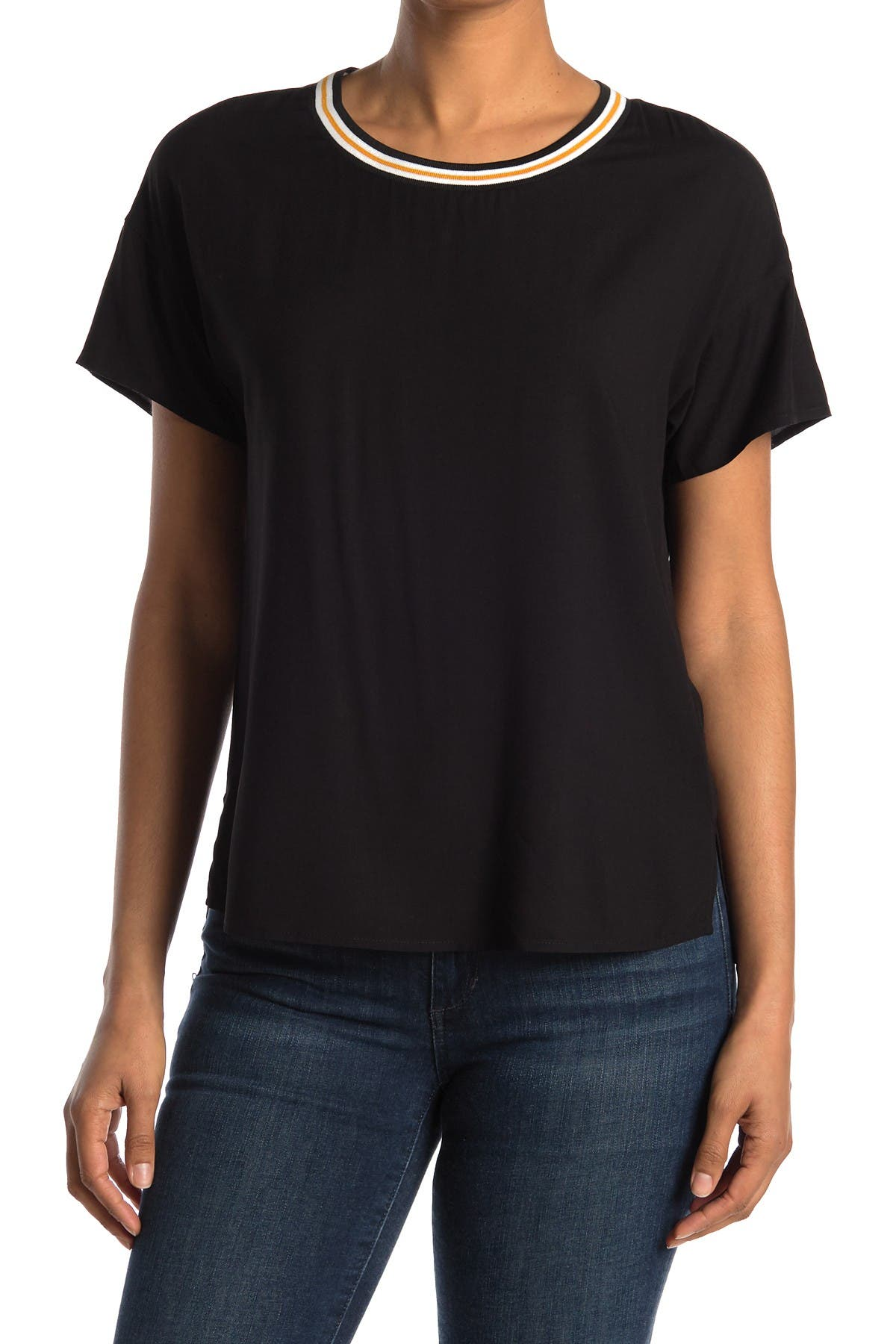 Image of DR2 by Daniel Rainn Sporty Trim Drop Sleeve T-Shirt