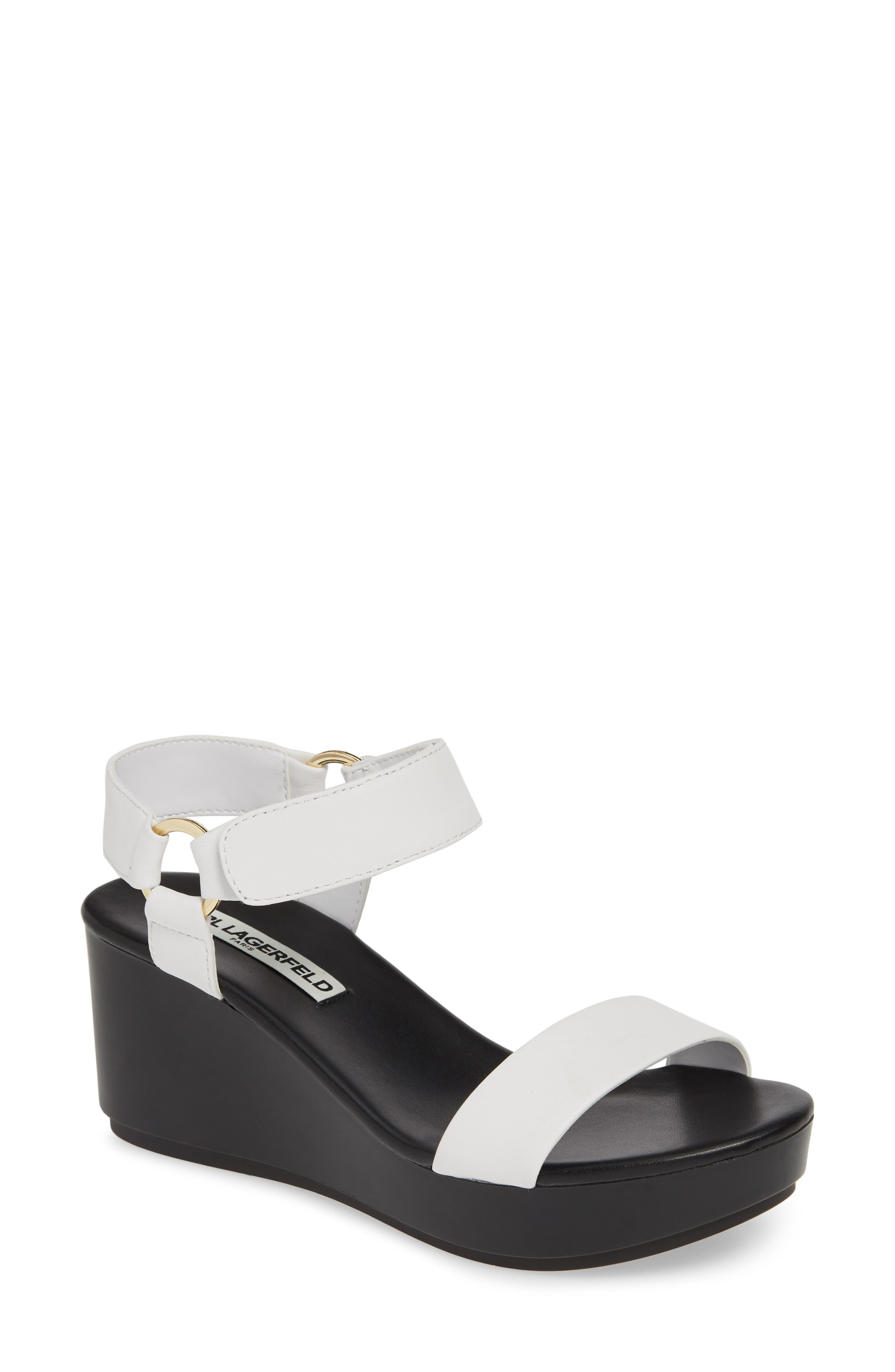 Karl Lagerfeld Paris Lana Platform Sandal, White