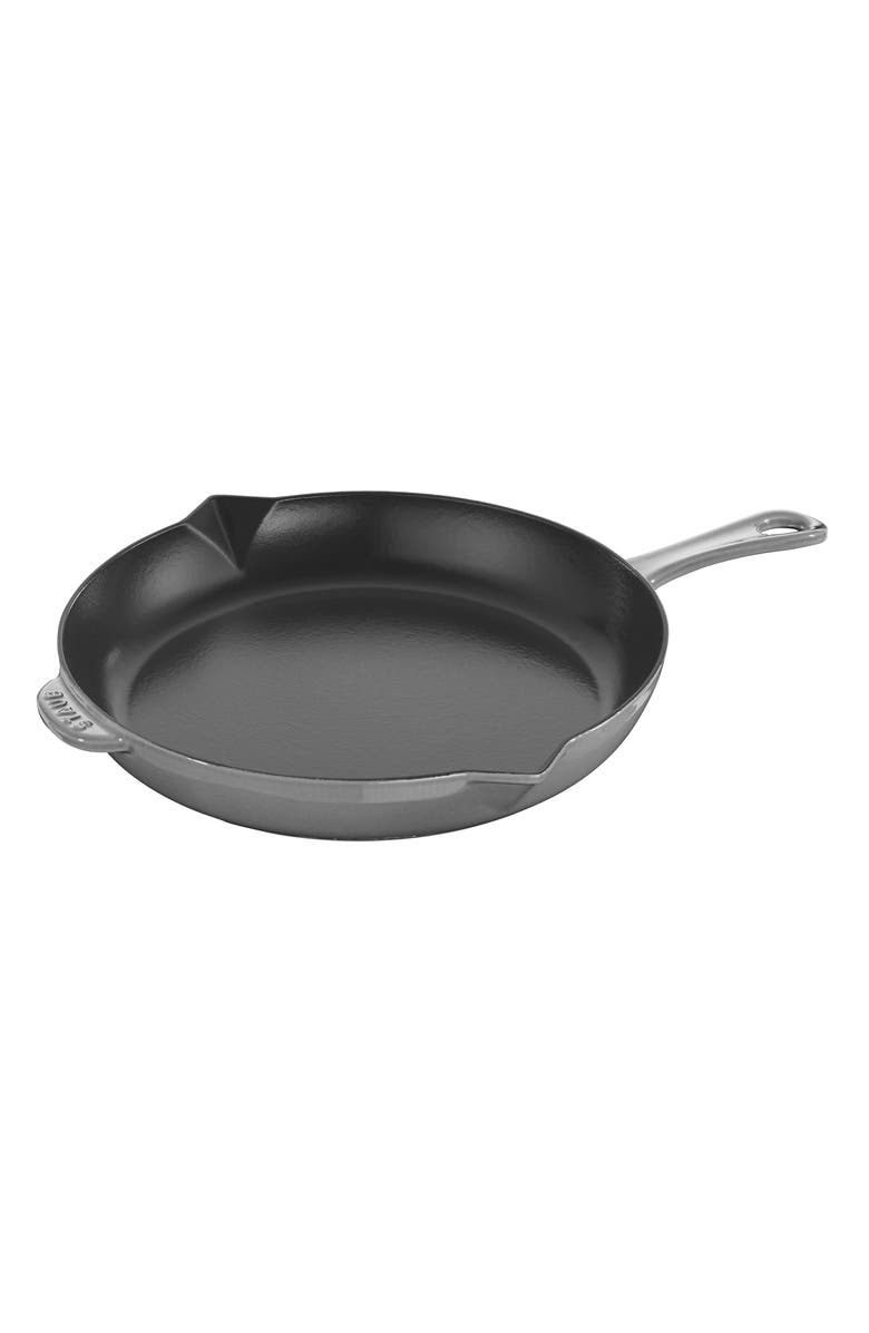 STAUB 10-Inch Enameled Cast Iron Fry Pan, Main, color, GRAPHITE