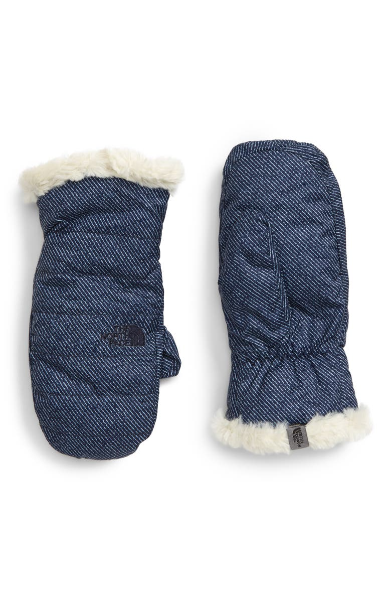 THE NORTH FACE Mossbud Swirl Reversible Water Resistant Heatseeker<sup>™</sup> Insulated Mittens, Main, color, 400
