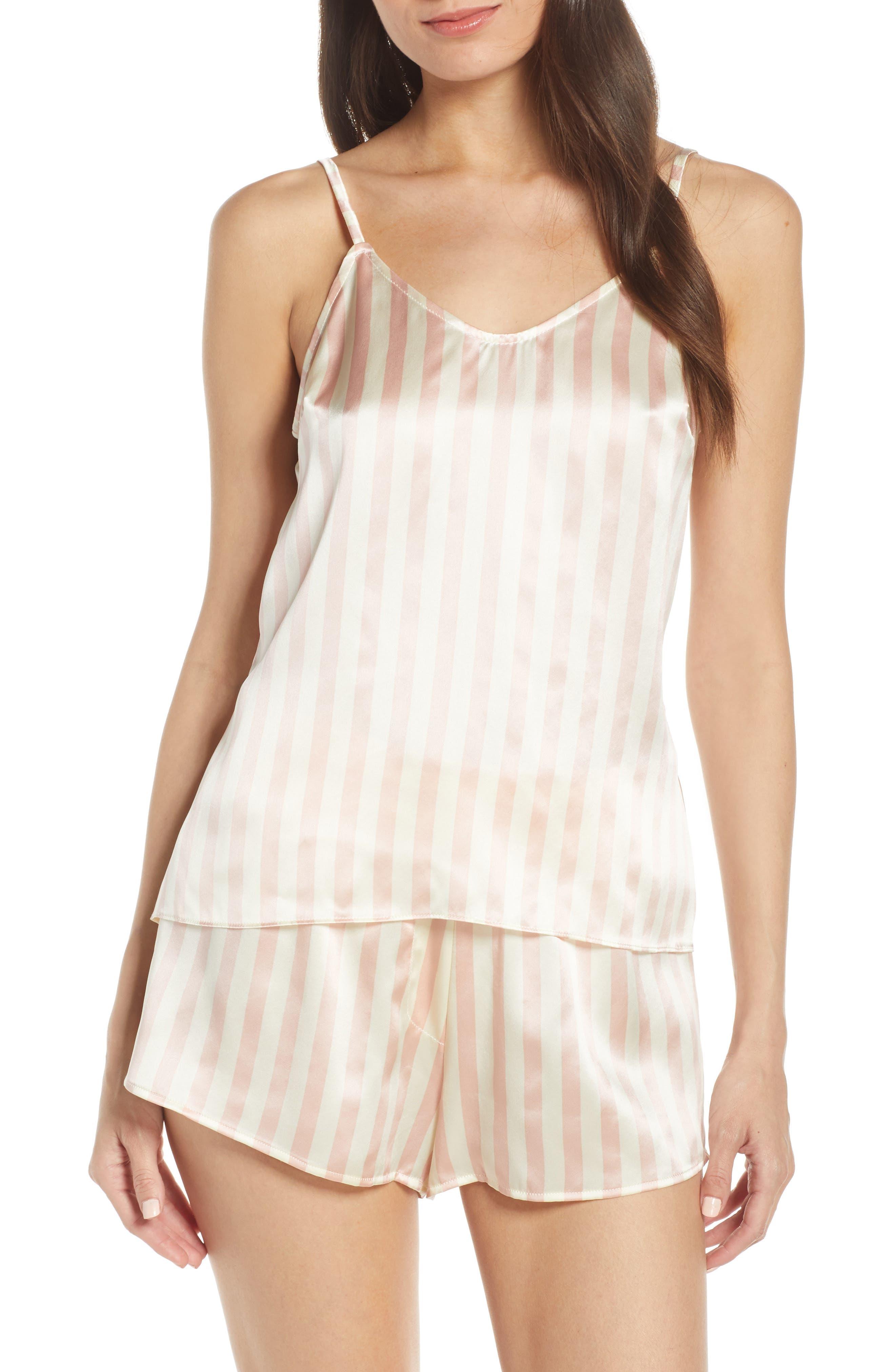Morgan Lane Mackenzie Silk Pajama Tank, Pink