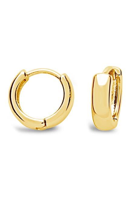 Image of Sterling Forever 14K Yellow Gold Vermeil 11mm Micro Huggie Hoop Earrings