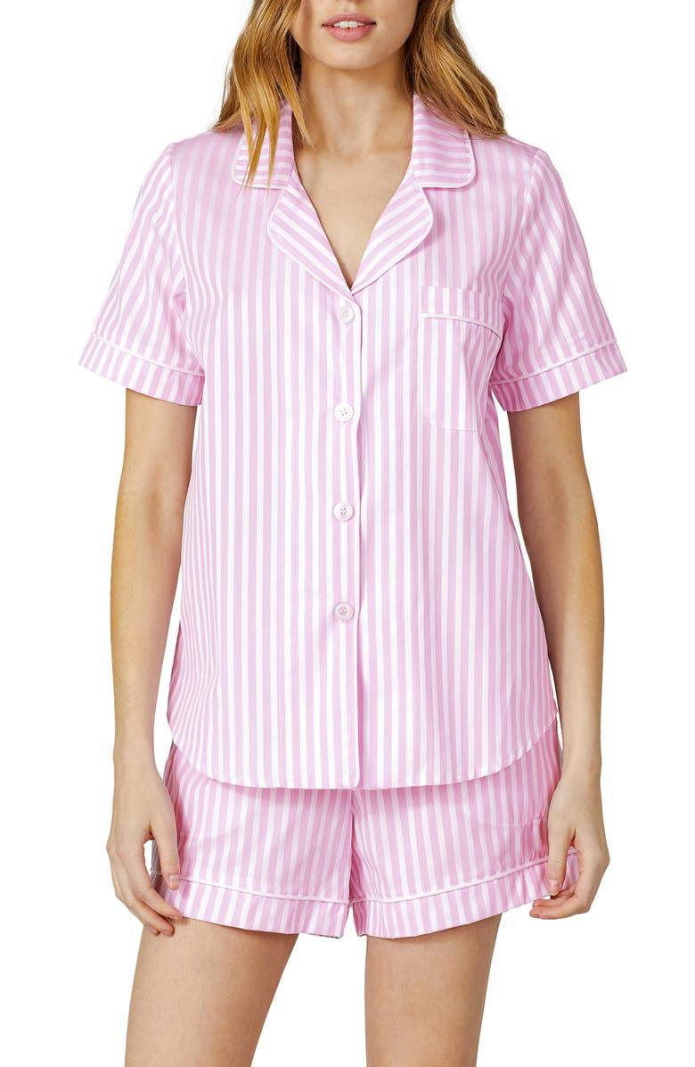BEDHEAD PAJAMAS Stripe Cotton Short Pajamas, Main, color, PINK