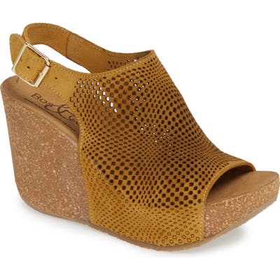 Bos. & Co. Savona Wedge Sandal - Yellow