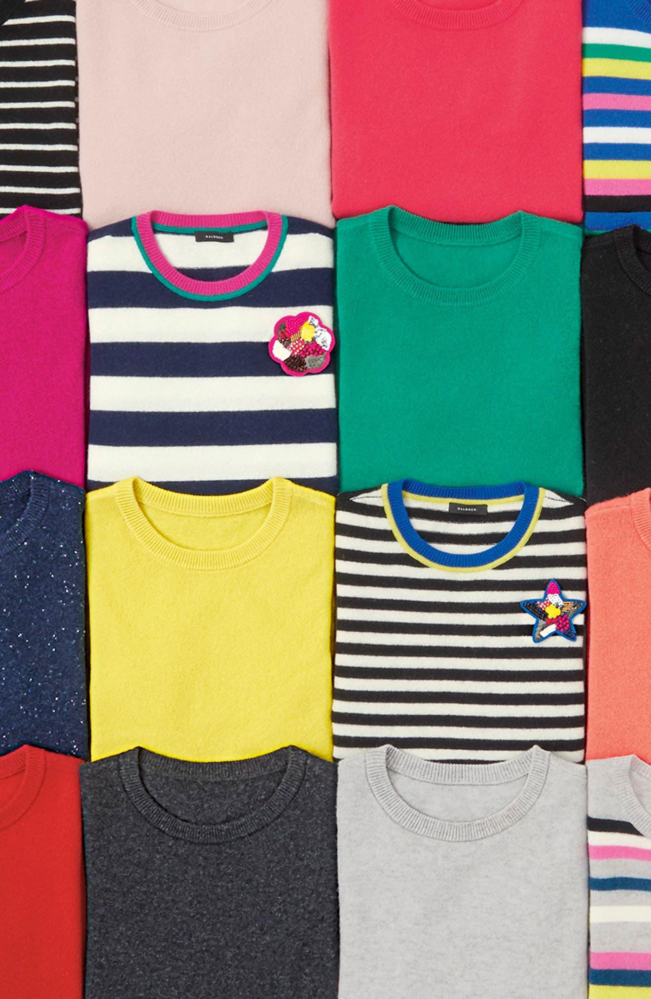 ,                             Crewneck Cashmere Sweater,                             Alternate thumbnail 10, color,                             002