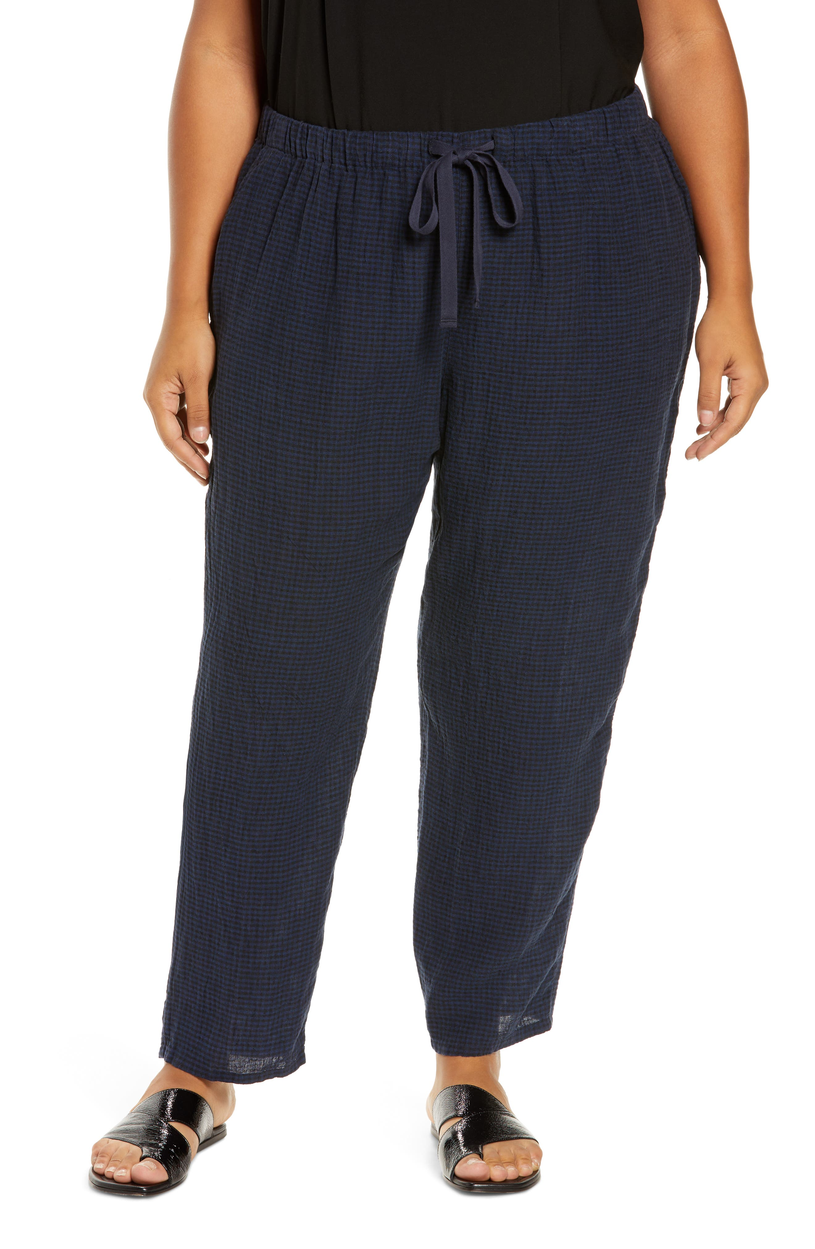 Eileen Fisher Tapered Ankle Pants (Plus Size) | Nordstrom