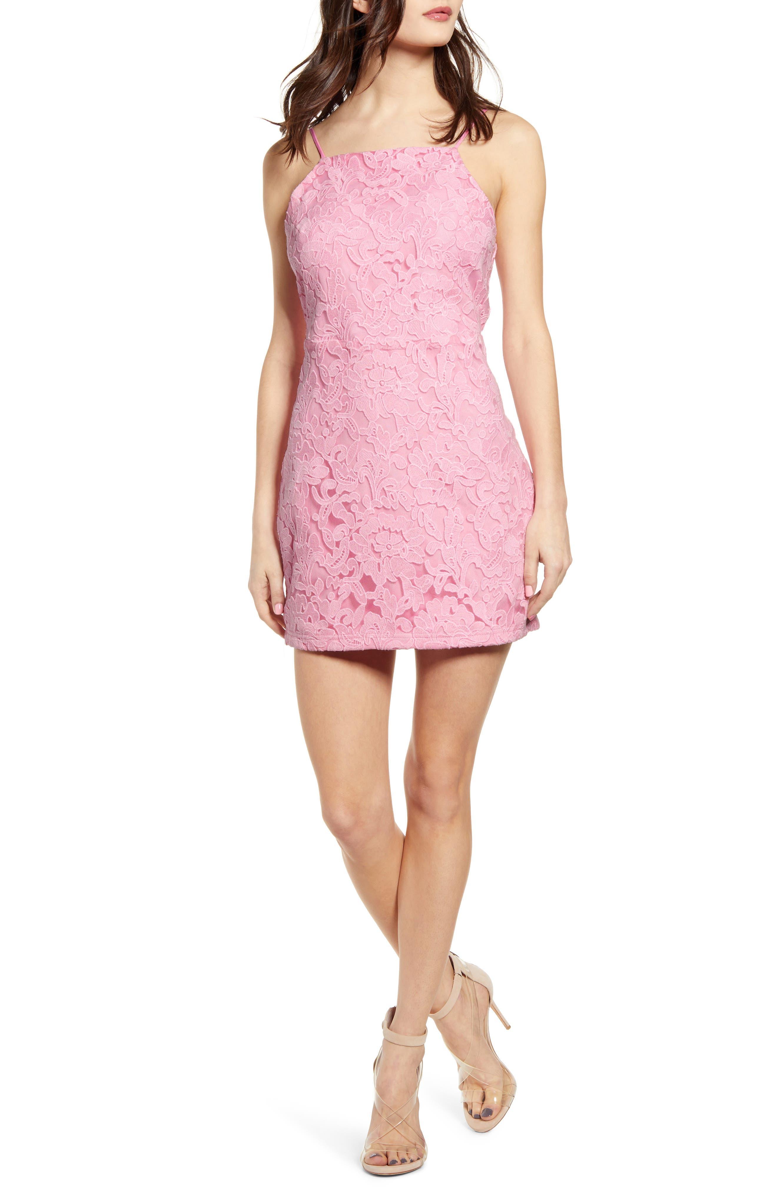 Endless Rose Cutout Back Minidress, Pink