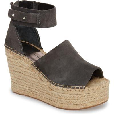 Dolce Vita Straw Wedge Espadrille Sandal- Grey