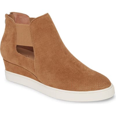 Linea Paolo Amanda Slip-On Wedge Bootie, Brown