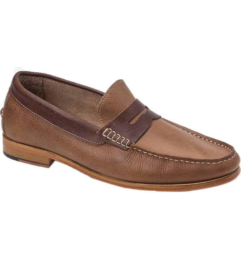 SANDRO MOSCOLONI Braga Penny Loafer, Main, color, TAN