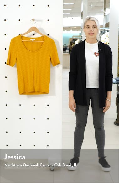 Pointelle Willford Sweater Tee, sales video thumbnail