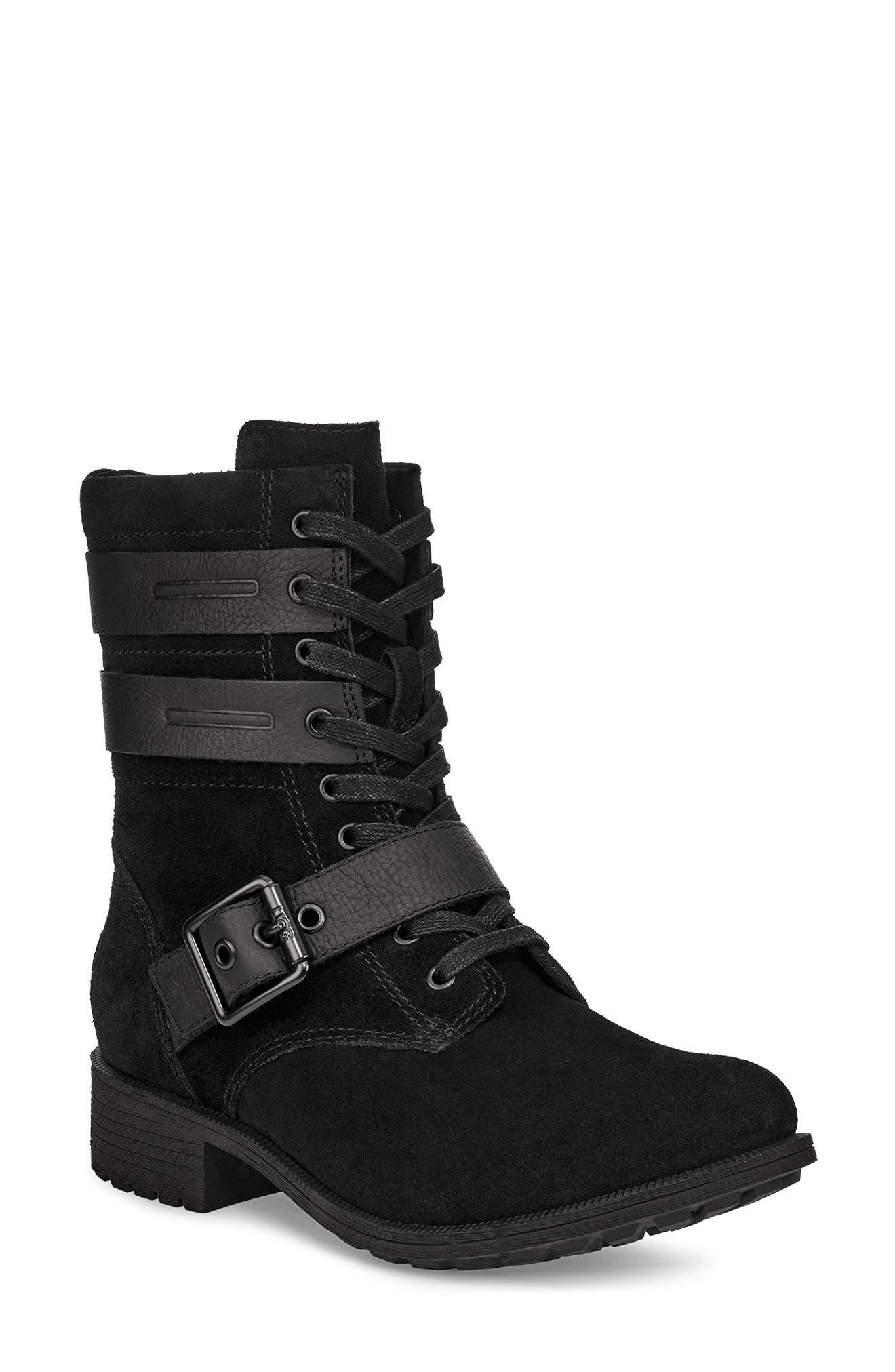 UGG® Zia Waterproof Combat Boot (Women
