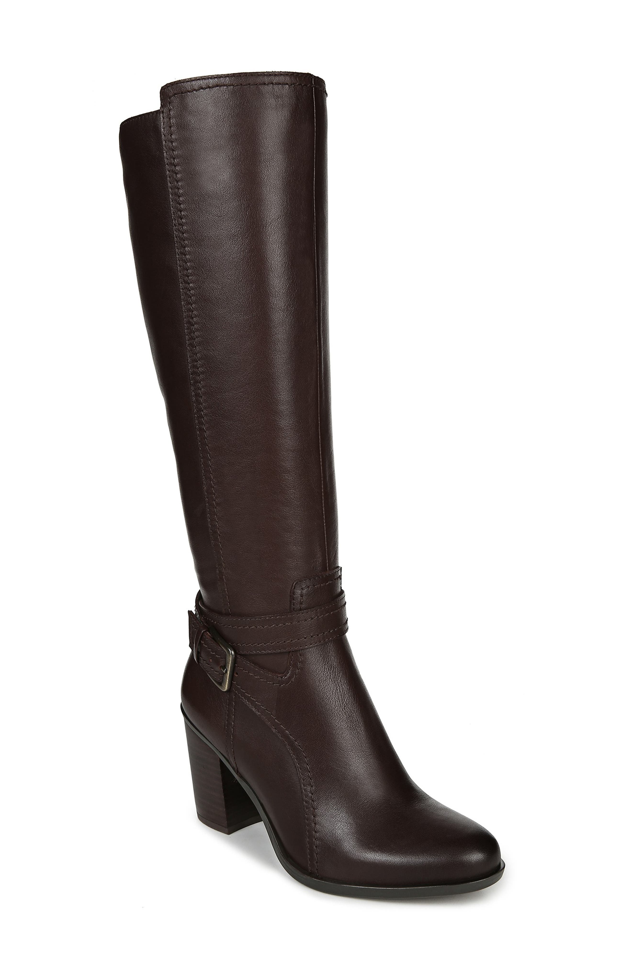 Naturalizer Kelsey Knee High Boot, Wide Calf- Brown
