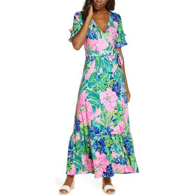 Lilly Pulitzer Emmerson Wrap Maxi Dress, Pink