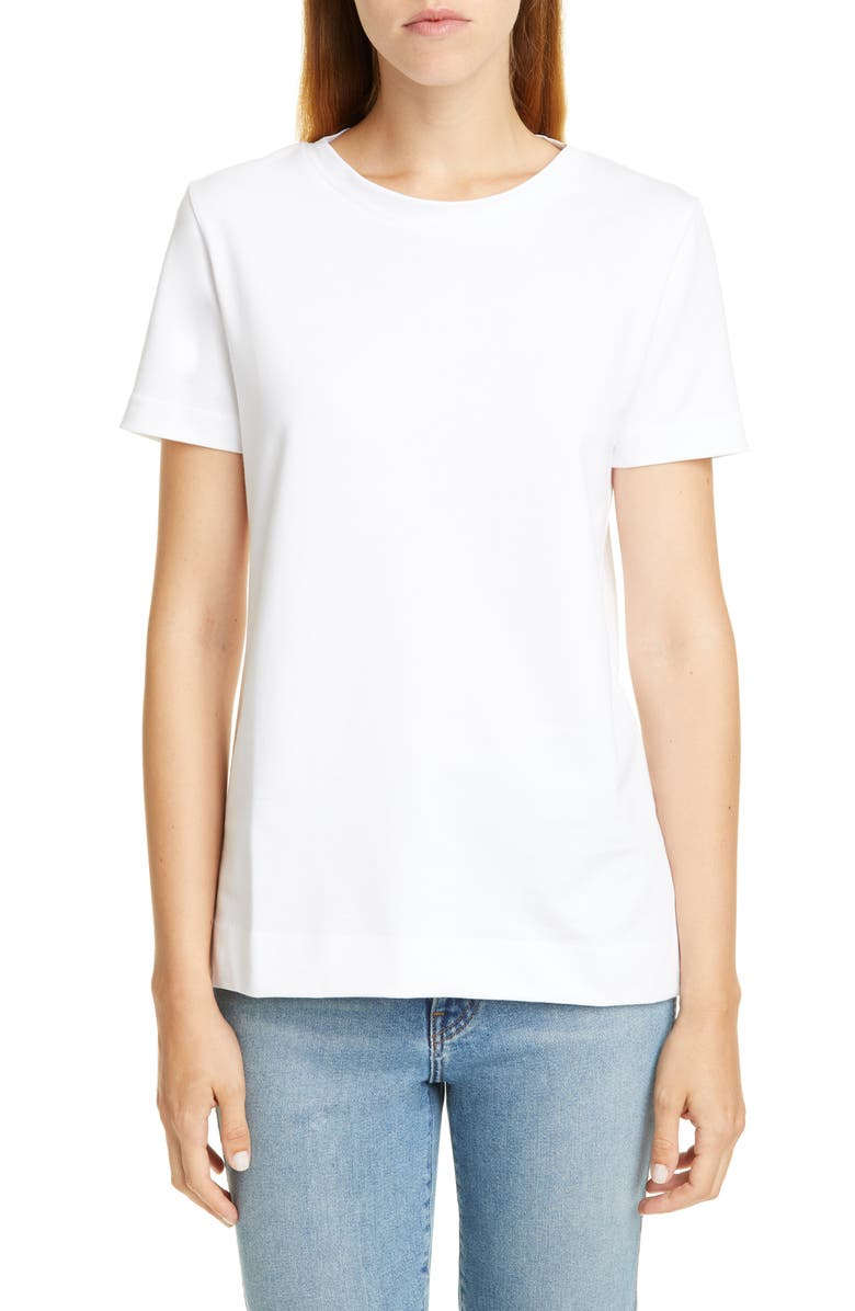 SOFIE D'HOORE Cotton Tee, Main, color, WHITE