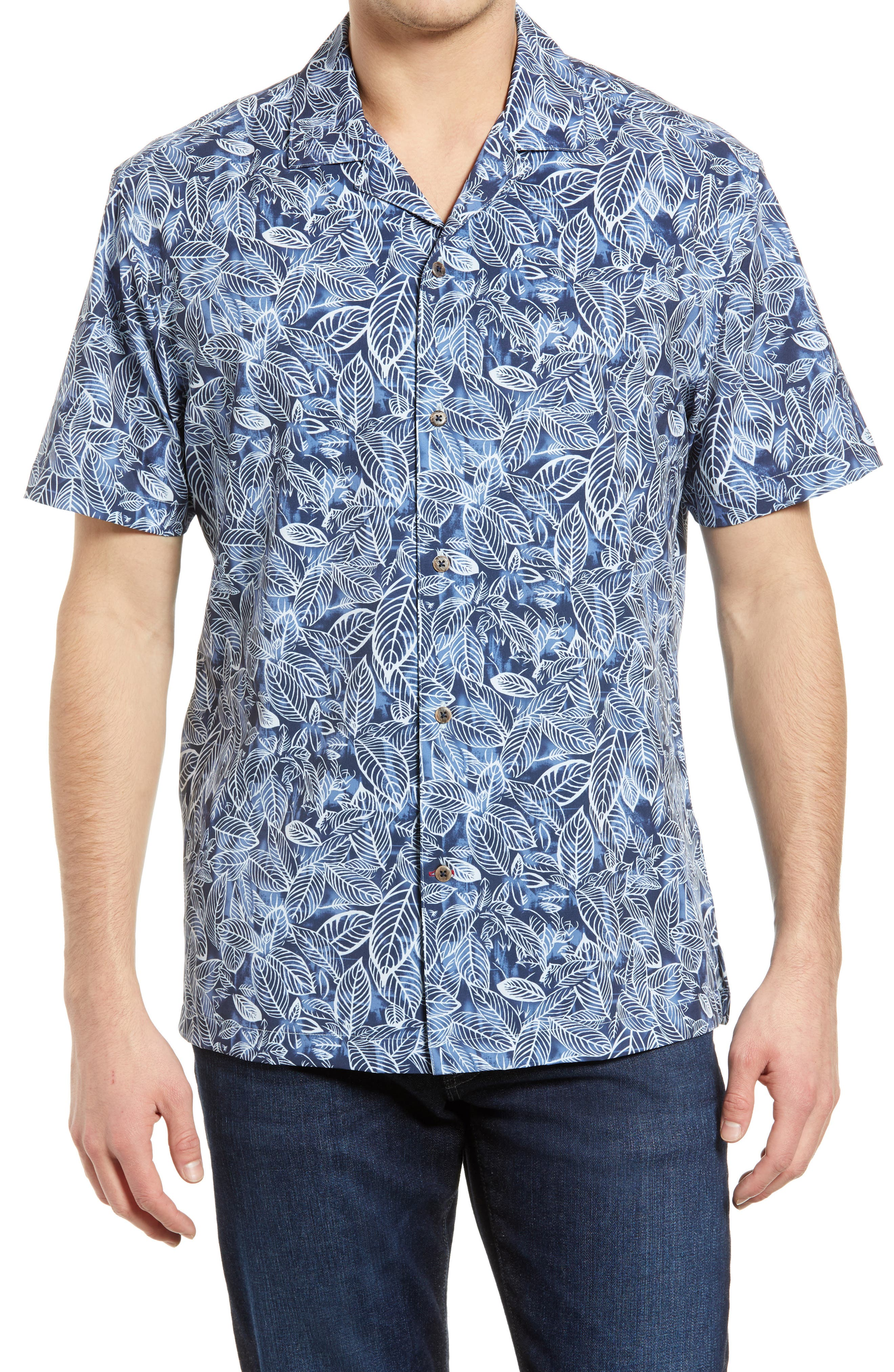 Palm Performance Short Sleeve Button-Up Camp Shirt