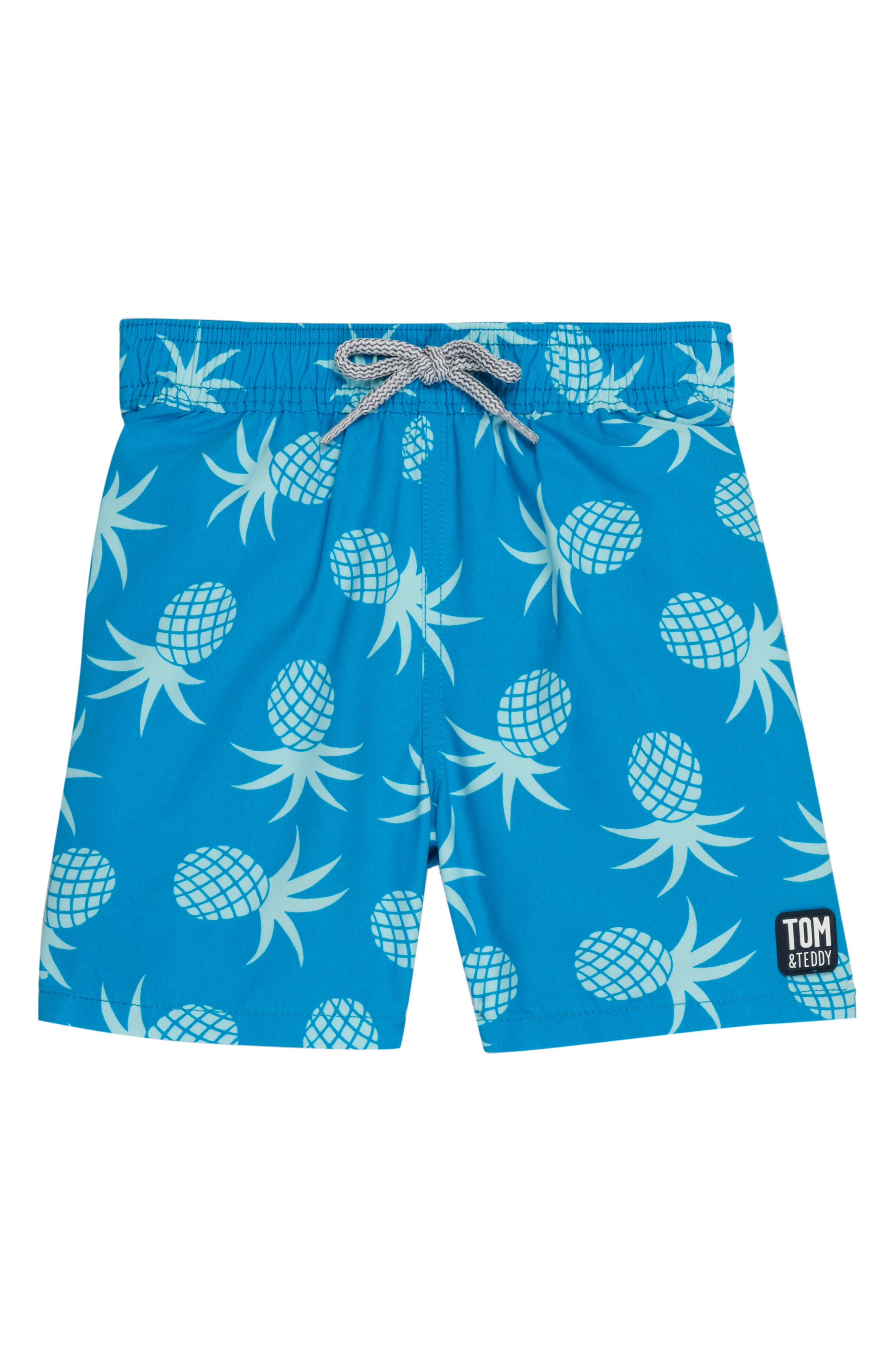 Toddler Boys Tom  Teddy Pineapple Swim Trunks Size 12Y  Blue